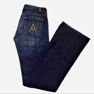 """7 For All Mankind """"A"""" Pocket Dark Wash Flare Jean"""